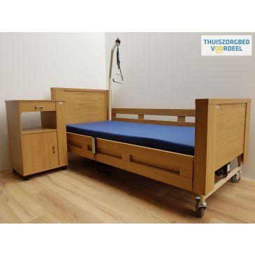 Hoog laag bed Vroomshoop (170) -Incl. Nachtkastje-